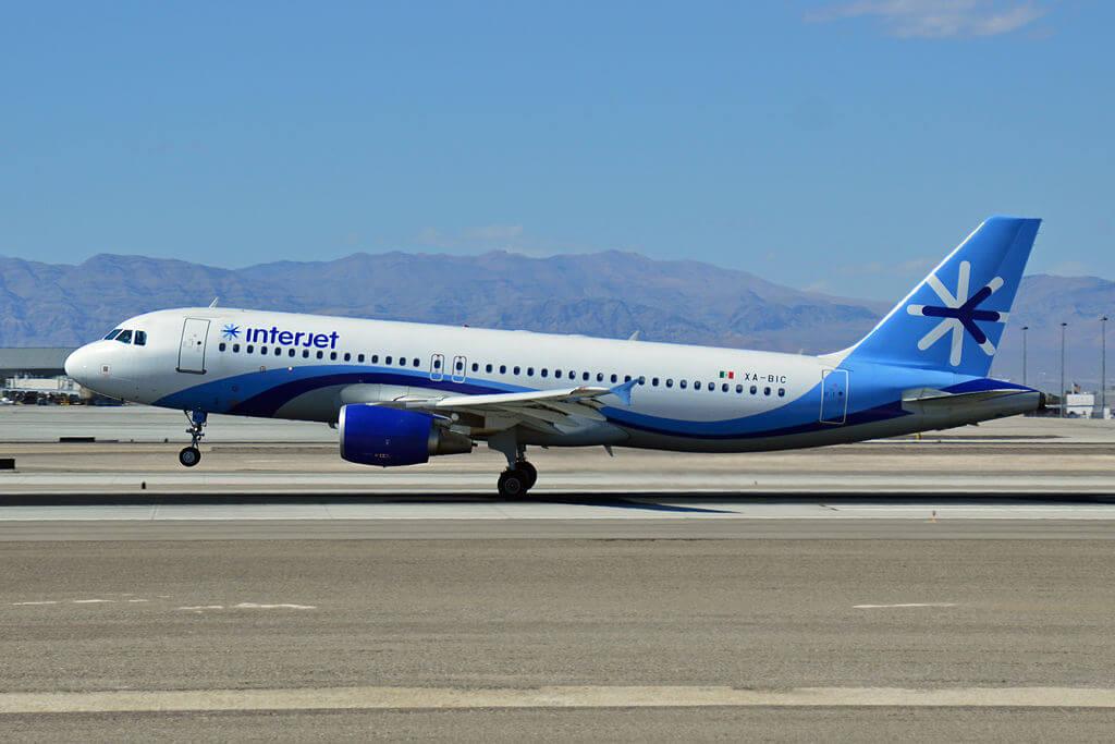 Interjet XA BIC Airbus 320 214 at McCarran International Airport
