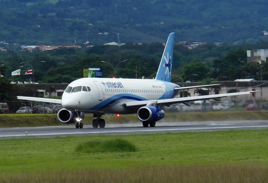 Interjet XA DAS Sukhoi Superjet 100 at Juan Santamaría International Airport