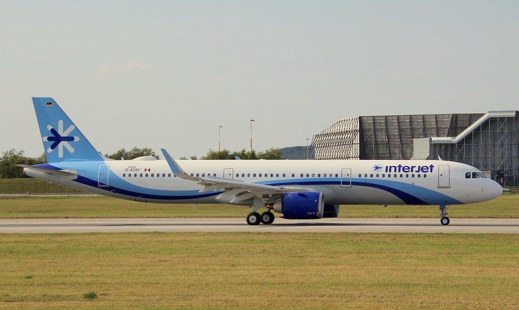 Interjet XA DBR Airbus A321 251N at Hamburg Finkenwerder