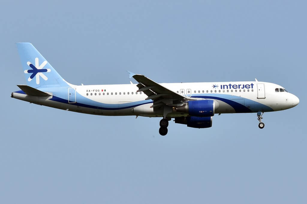 Interjet XA FOG Airbus A320 214 at John F. Kennedy International Airport