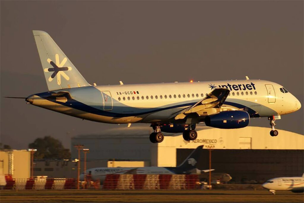 Interjet XA GCD Sukhoi Superjet 100 at Mexico City International Airport