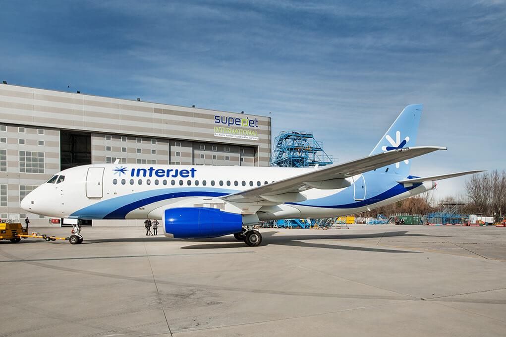 Interjet XA JLG Sukhoi Superjet 100 at Venice Marco Polo Airport
