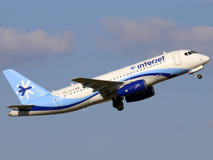 Interjet XA LLV Sukhoi Superjet SSJ 100 95B at IAH Houston Bush Intercontinental Airport