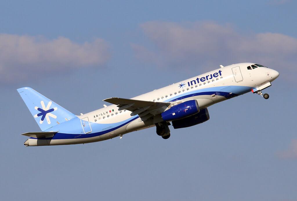 Interjet XA LLV Sukhoi Superjet SSJ 100 95B at IAH Houston Bush Intercontinental Airport