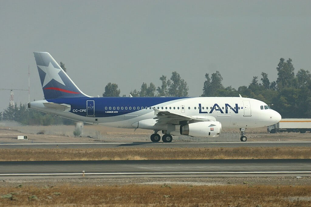 LAN LATAM CC CPE Airbus A319 100 at Arturo Merino Benítez International Airport 1