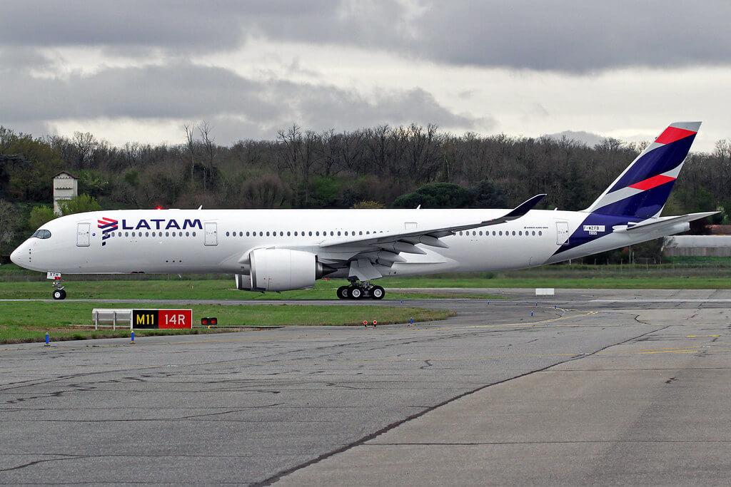 LATAM Airbus A350 941 F WZFB PR XTH at TLS Airport