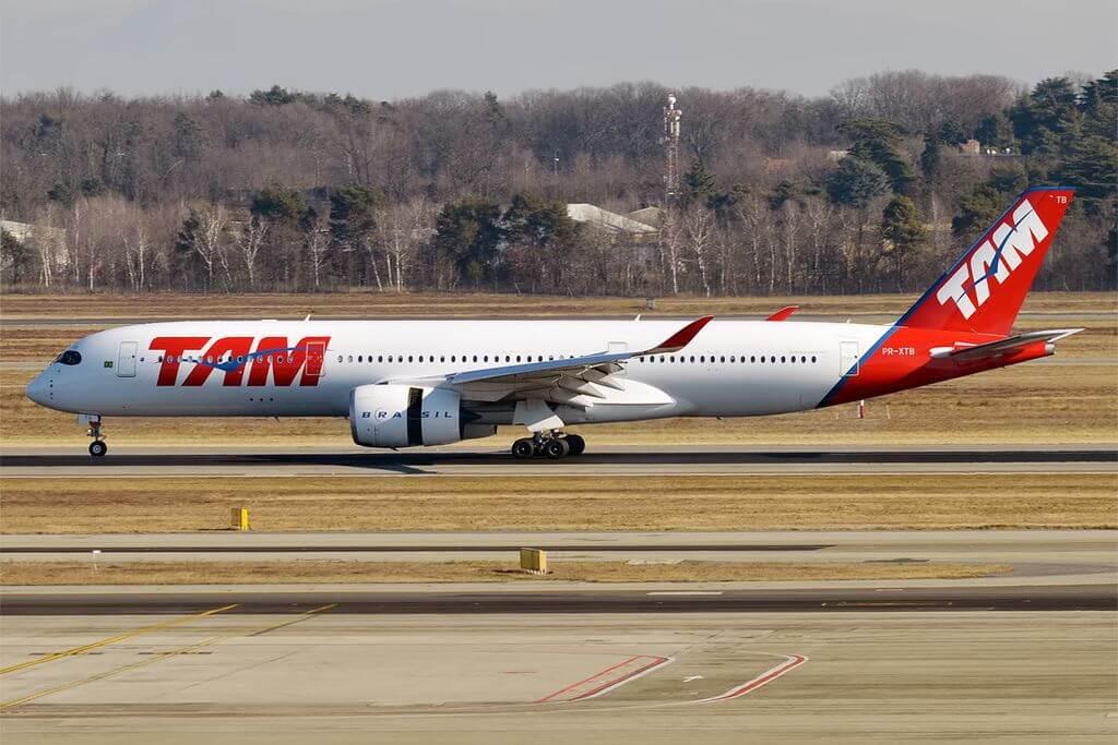 LATAM Brasil PR XTB Airbus A350 941 at Milan Malpensa Airport