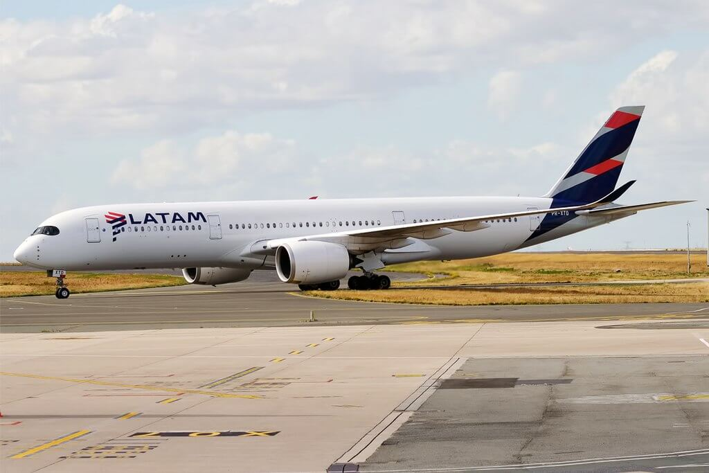 LATAM Brasil PR XTD Airbus A350 941 at Paris Charles de Gaulle Airport