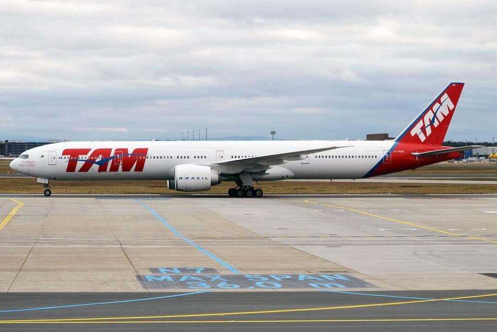 LATAM Brasil PT MUG Boeing 777 32WER at Frankfurt Airport