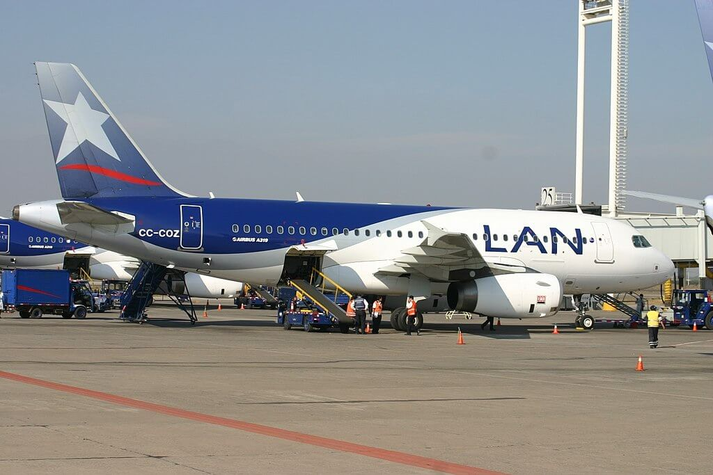 LATAM LAN CC COZ Airbus A319 100 at Arturo Merino Benítez International Airport