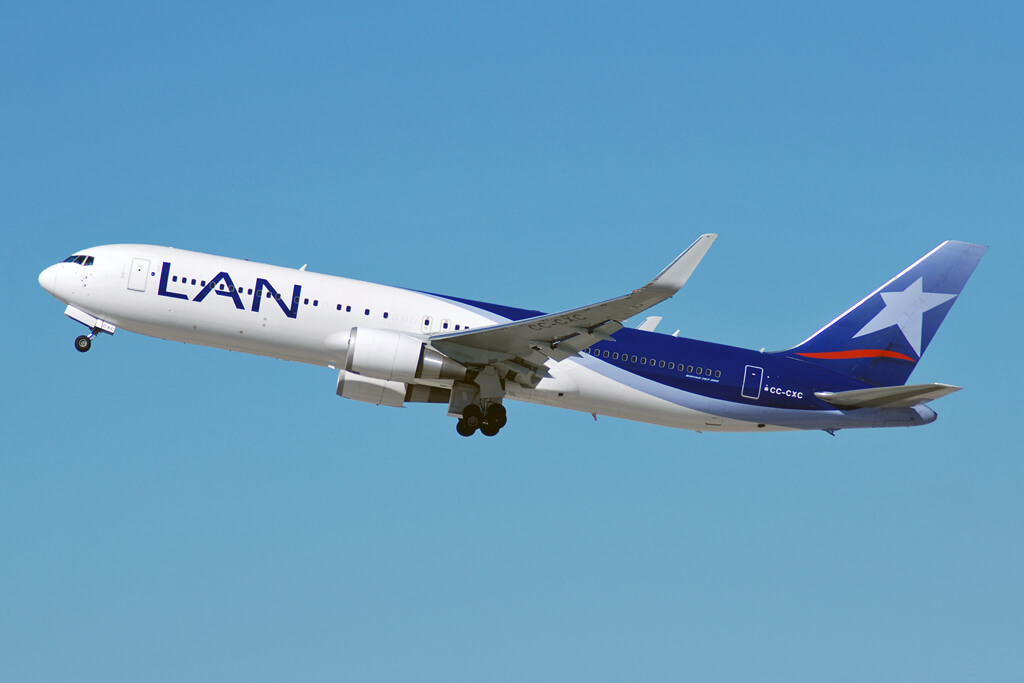 LATAM LAN CC CXC Boeing 767 300ER at Los Angeles International Airport