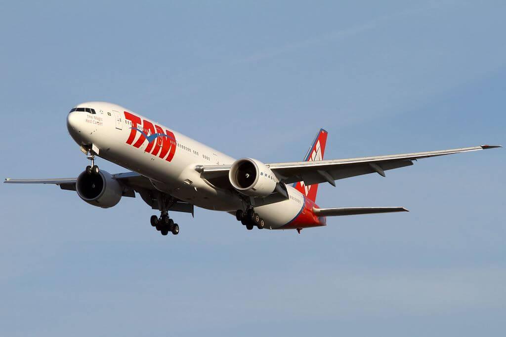 LATAM TAM PT MUB Boeing 777 32WER at Frankfurt