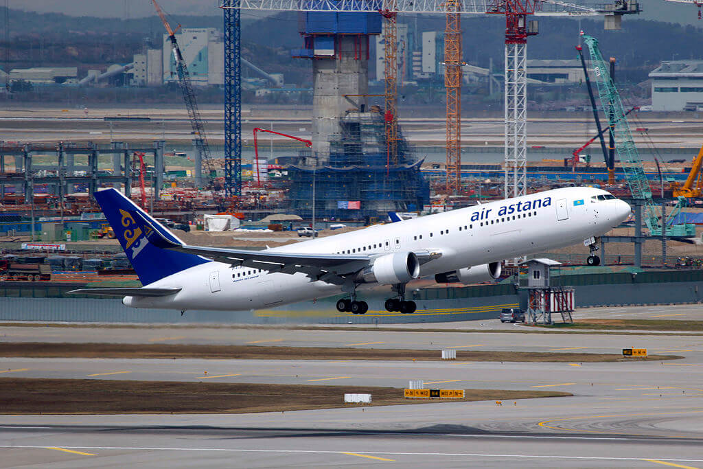P4 KEC Air Astana Boeing 767 3KYERWL at Incheon International Airport