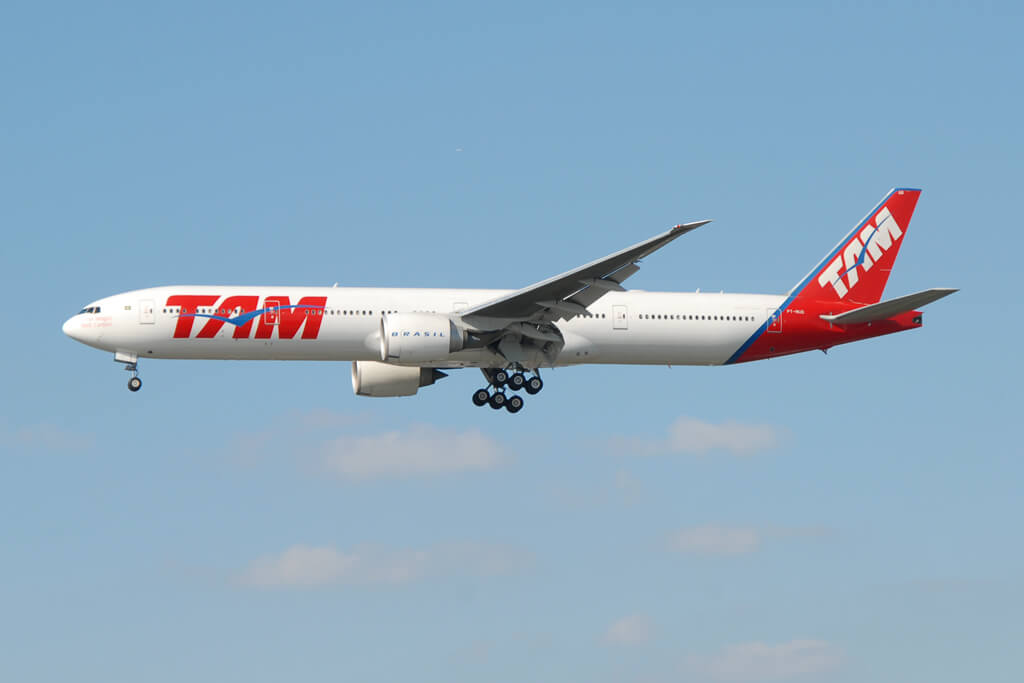 PT MUD TAM LATAM Boeing 777 32WER at London Heathrow