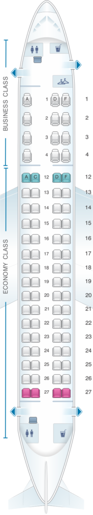 Seat Map and Seating Chart Embraer E175 Air Canada Express Sky Regional