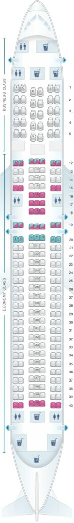 Seat Map and Seating Chart LATAM Boeing 767 300ER