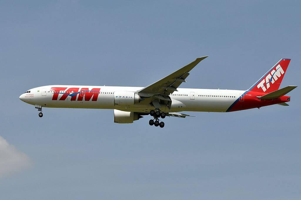TAM Linhas Aéreas LATAM Boeing 777 32WER PT MUE at Paris Charles de Gaulle Airport