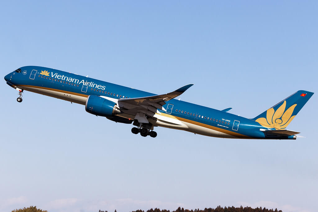 VN A888 Airbus A350 941XWB Vietnam Airlines at RJAA NRT