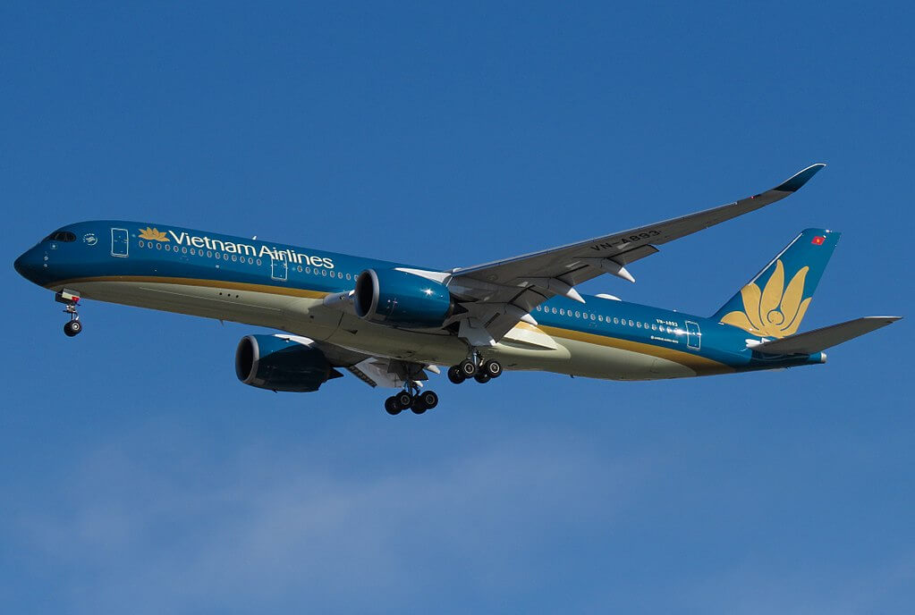 VN A893 Airbus A350 900 Vietnam Airlines at Beijing Capital International Airport