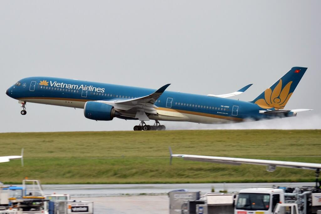 Vietnam Airlines VN A890 Airbus A350 941 at Paris Charles de Gaulle Airport