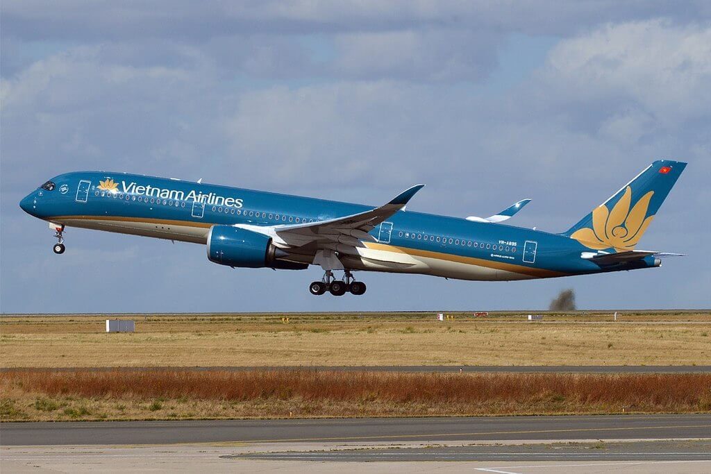 Vietnam Airlines VN A895 Airbus A350 941 at Paris Charles de Gaulle Airport