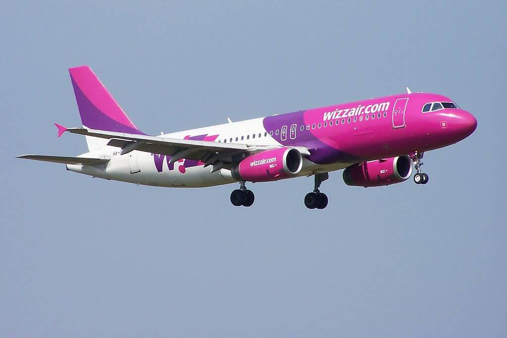 Wizz Air Airbus A320 200 HA LPM at Glasgow Prestwick Airport
