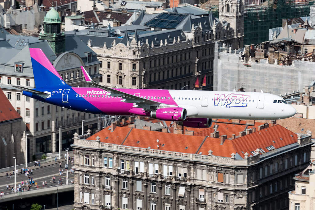 Wizz Air HA LTA Airbus A321 200 at Budapest Hungary