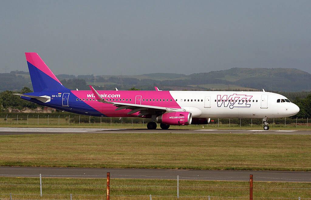 Wizz Air HA LTB Airbus A321 231W at Glasgow International Airport GLA
