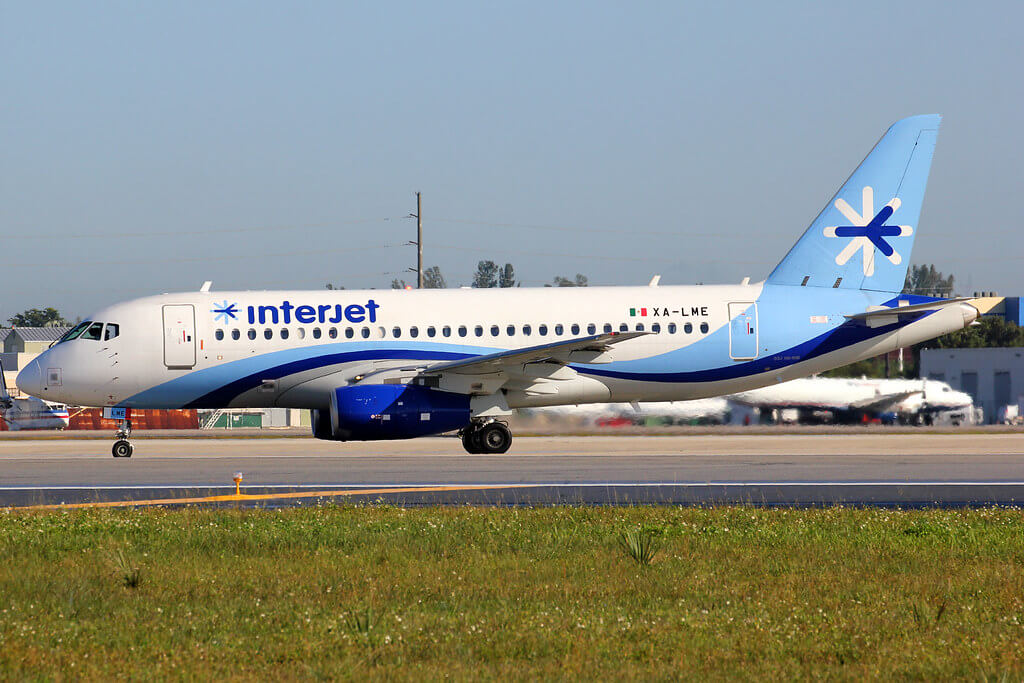 XA LME Sukhoi Superjet 100 95B Interjet at Miami International Airport