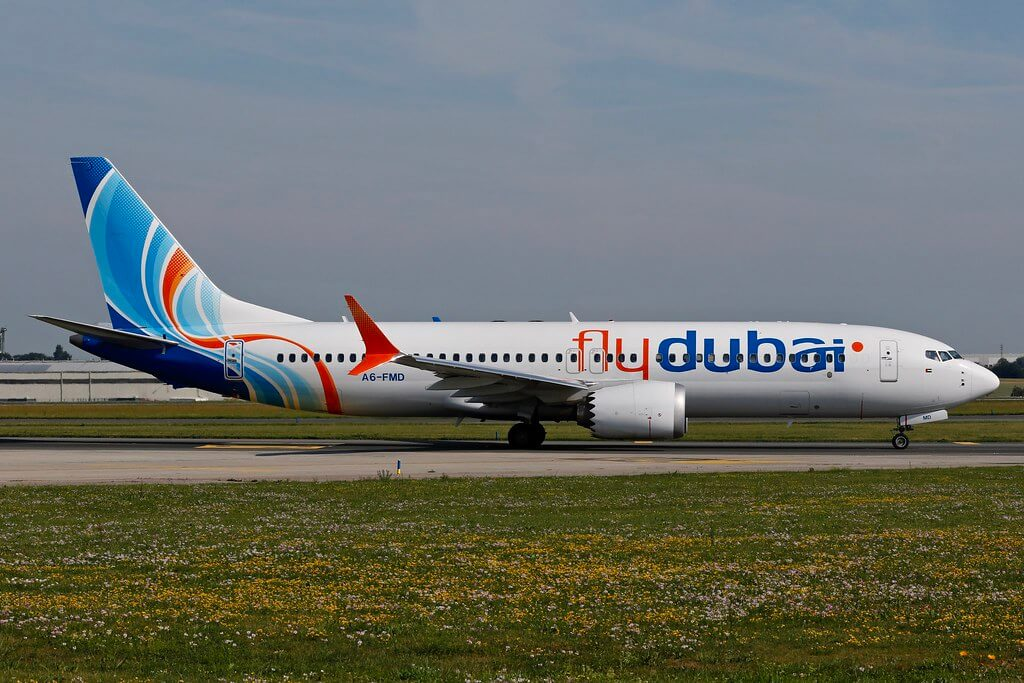 flydubai A6 FMD Boeing 737 MAX 8 at Prague Vaclav Havel