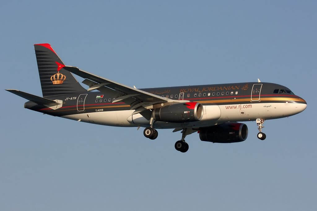 Airbus A319 132 Royal Jordanian Airline JY AYN at Larnaca International Airport Shobak