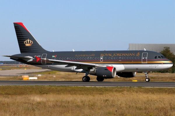 Aircraft JY AYC Airbus A319 115 Royal Jordanian Prince Hashem bin Al Hussein