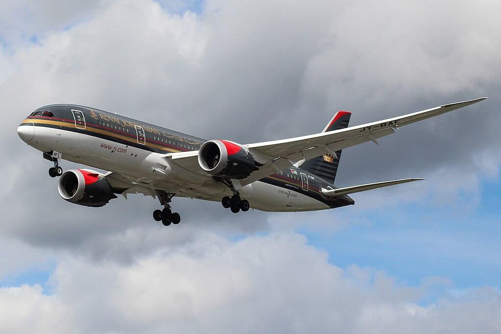 Amman JY BAF Boeing 787 8 Dreamliner Royal Jordanian at London Heathrow Airport