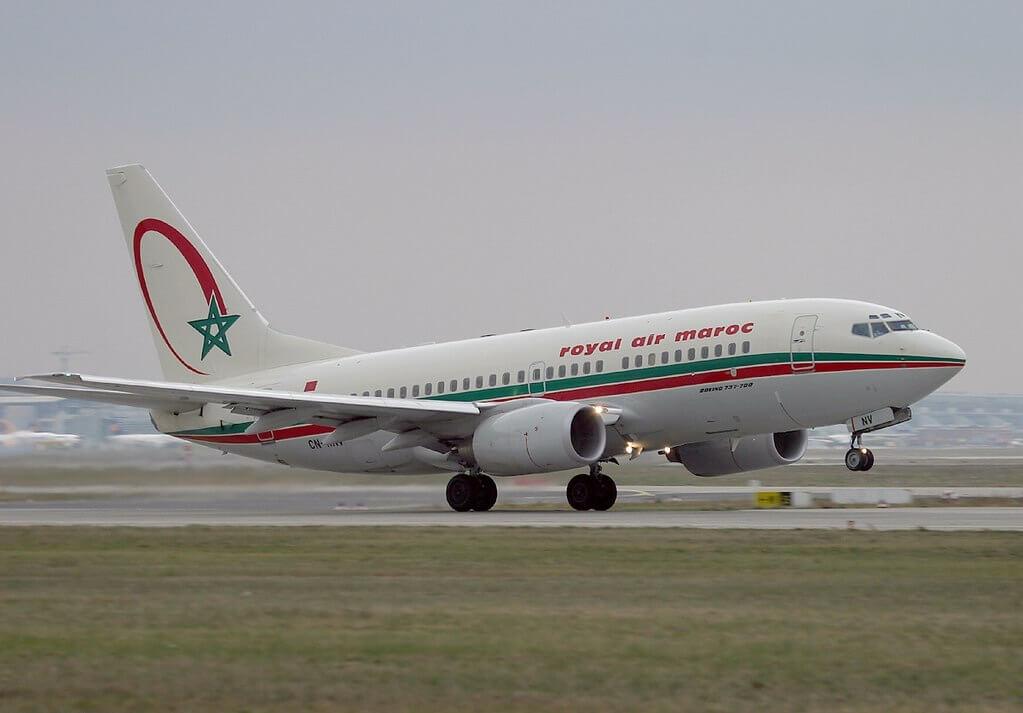 Boeing 737 7B6 Royal Air Maroc RAM CN RNV at Frankfurt Airport