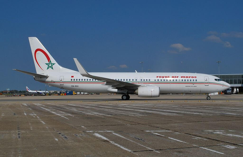 Boeing 737 86N Royal Air Maroc RAM CN RGI at London Heathrow Airport