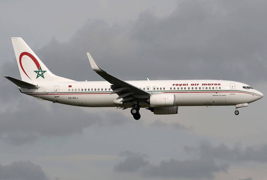 Boeing 737 8B6 Royal Air Maroc RAM CN RGJ at Roma Leonardo da Vinci Fiumicino