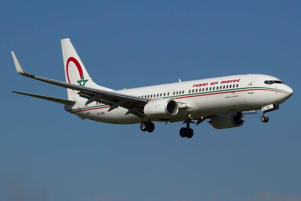 Boeing 737 8B6 Royal Air Maroc RAM CN RGK at Bologna Guglielmo Marconi Airport