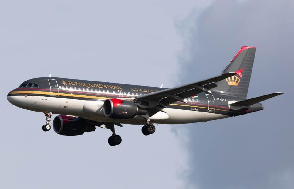JY AYZ Airbus A319 100 Ma'an Royal Jordanian
