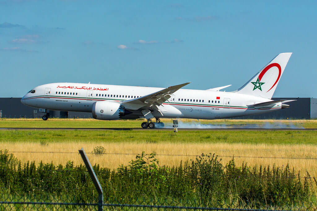 RAM Royal Air Maroc Boeing 787 8 Dreamliner CN RGS at Paris Orly