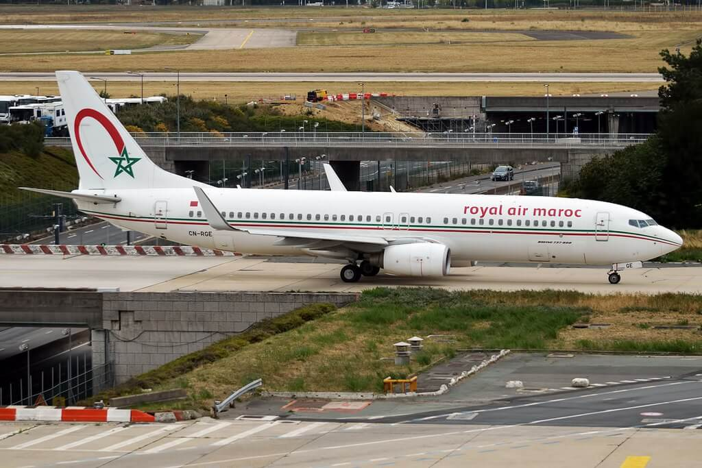 RAM Royal Air Maroc CN RGE Boeing 737 86N at Paris Orly Airport