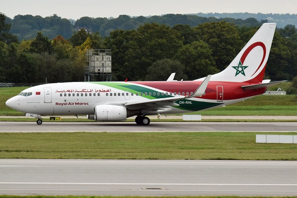 RAM Royal Air Maroc CN RNL Boeing 737 7B6 at London Gatwick Airport