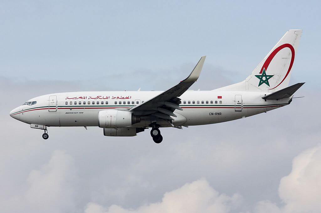 Royal Air Maroc RAM Boeing 737 7B6 CN RNR at Frankfurt Airport