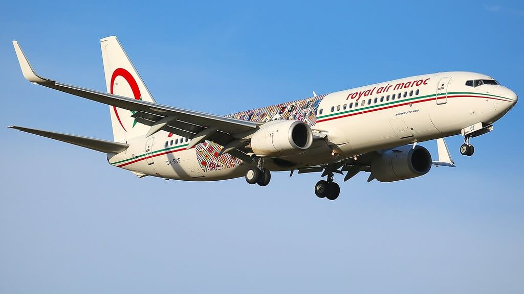 Royal Air Maroc Wings of African Art Livery CN RGF Boeing 737 86N at Zürich Kloten