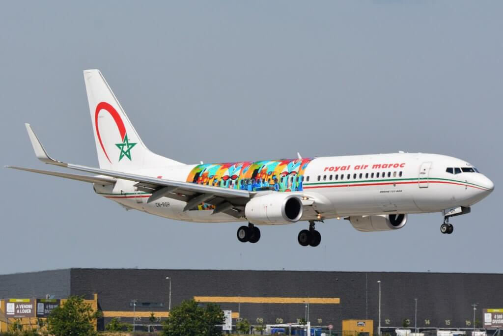 Royal Air Maroc Wings of African Art Livery CN RGH Boeing 737 86N at Paris Orly Airport