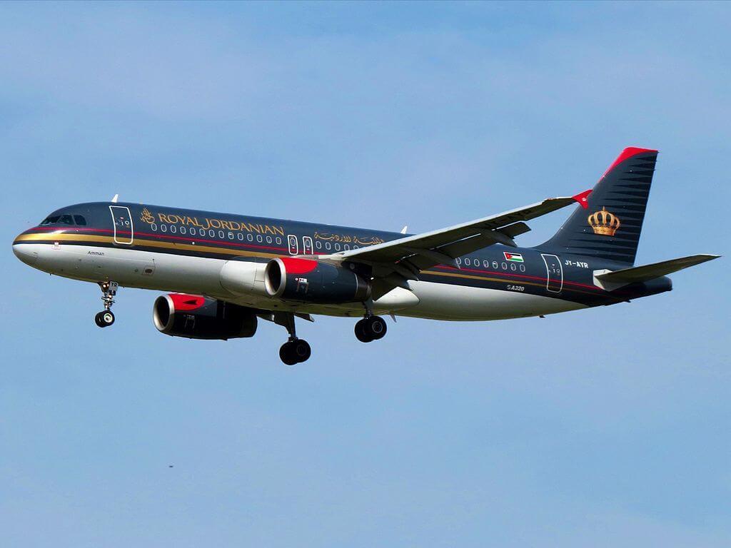 Royal Jordanian Airbus A320 232 JY AYR Petra at Frankfurt Airport
