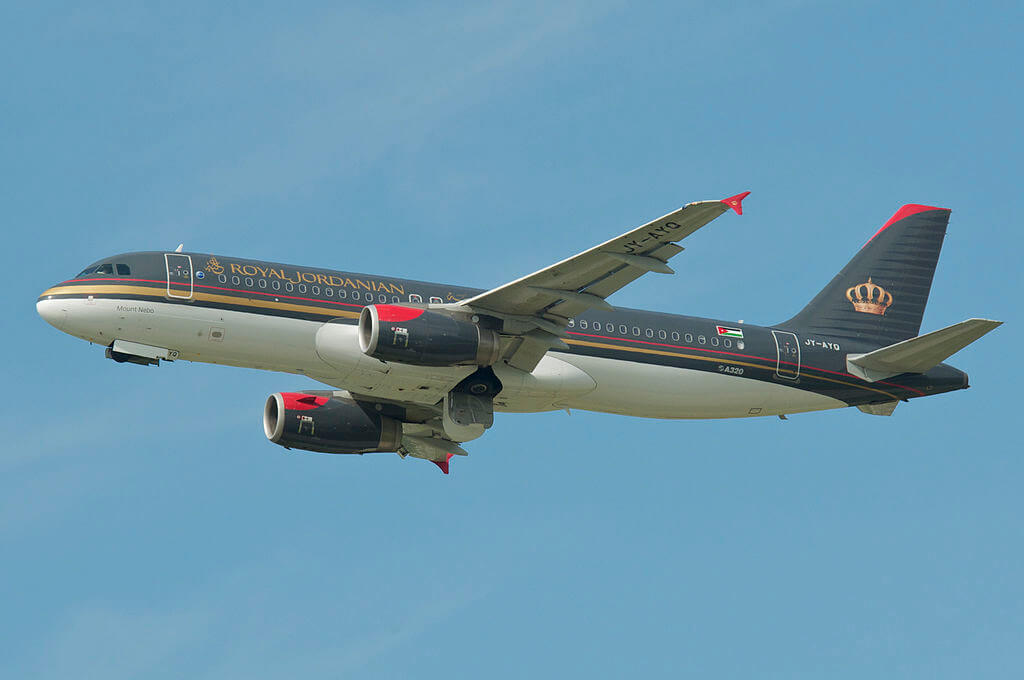 Royal Jordanian Airlines Airbus A320 232 JY AYQ Mount Nebo at Zurich International Airport
