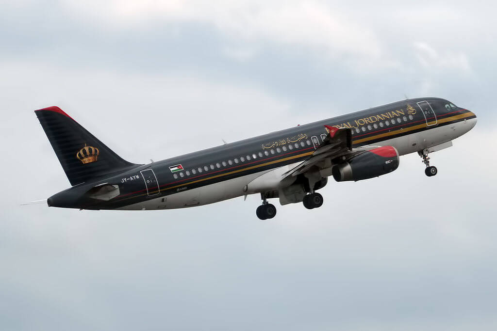 Royal Jordanian JY AYW Airbus A320 232 Irbid at Frankfurt Airport