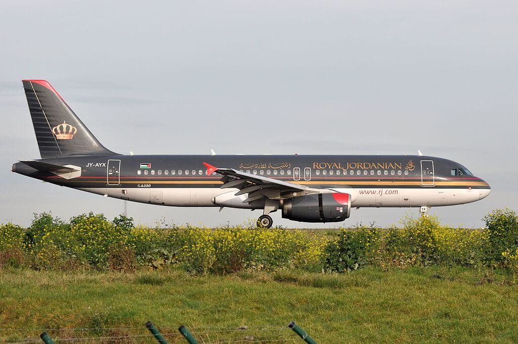 Royal Jordanian JY AYX Airbus A320 232 Madaba at Paris Charles de Gaulle Airport