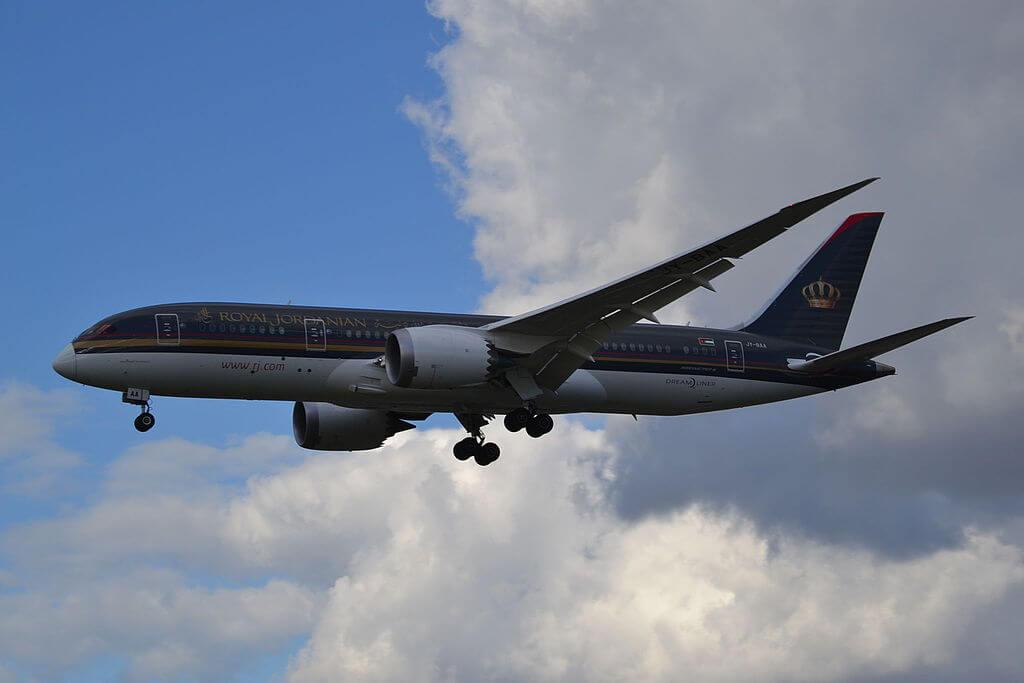 Royal Jordanian JY BAA Boeing 787 8 Dreamliner Prince Hussein bin Abdullah at London Heathrow Airport