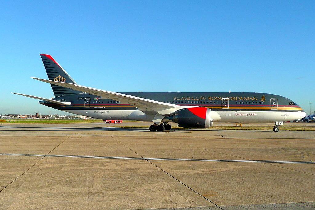 Royal Jordanian JY BAE Boeing 787 8 Dreamliner Prince Hashem bin Abdullah at London Heathrow Airport
